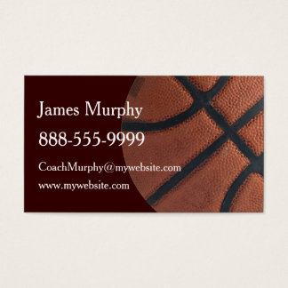 Basketball Sports Business Card