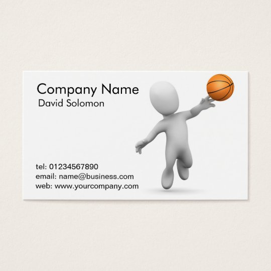 Basketball Sports Coach Business Cards