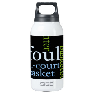 Basketball Sports Fanatic.jpg 10 Oz Insulated SIGG Thermos Water Bottle
