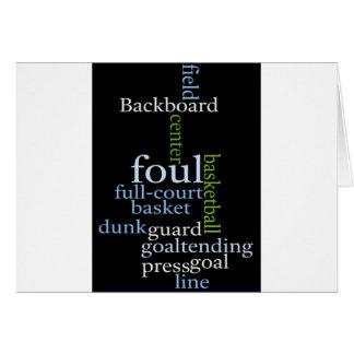 Basketball Sports Fanatic.jpg Greeting Card