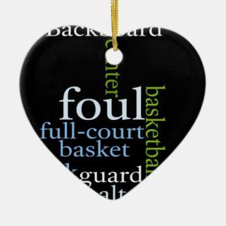 Basketball Sports Fanatic.jpg Ceramic Ornament