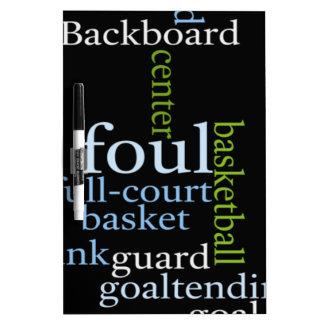 Basketball Sports Fanatic.jpg Dry Erase Board