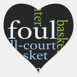Basketball Sports Fanatic.jpg Heart Sticker