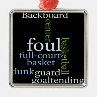 Basketball Sports Fanatic.jpg Metal Ornament
