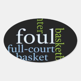 Basketball Sports Fanatic.jpg Oval Sticker