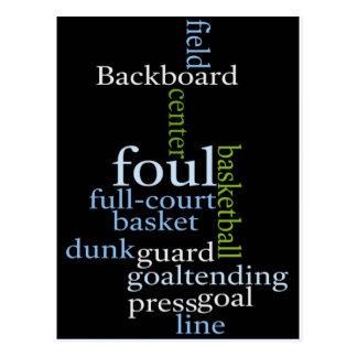 Basketball Sports Fanatic.jpg Postcard