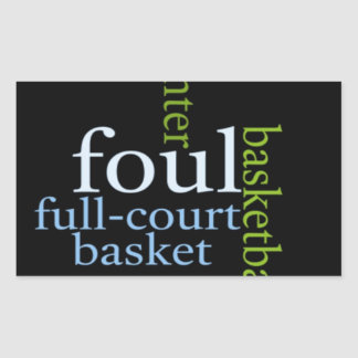 Basketball Sports Fanatic.jpg Rectangular Sticker