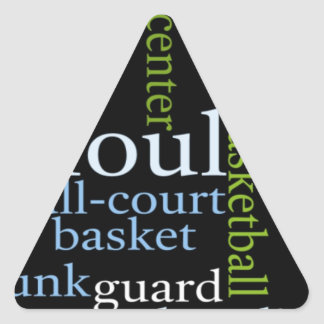 Basketball Sports Fanatic.jpg Triangle Sticker