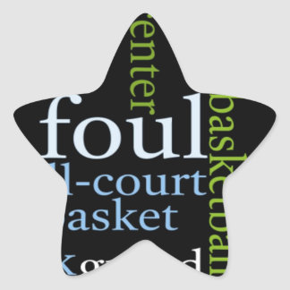 Basketball Sports Fanatic.jpg Star Sticker