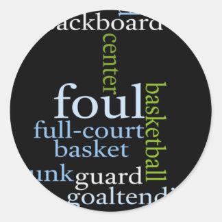 Basketball Sports Fanatic.jpg Classic Round Sticker