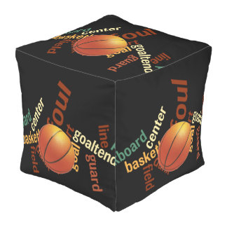Basketball Sports fans full court seating Outdoor Pouf