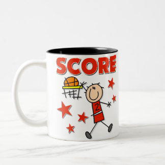 Basketball Sports Gift Two-Tone Coffee Mug