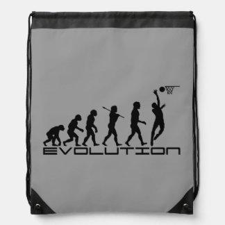 Basketball Sports Grey Drawstring Backpack