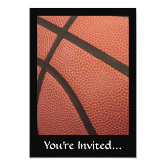 "Basketball Sports Image 5"" X 7"" Invitation Card"