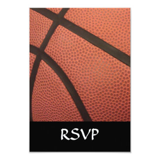 "Basketball Sports Image 3.5"" X 5"" Invitation Card"