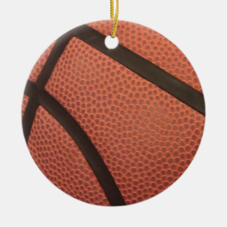 Basketball Sports Image Double-Sided Ceramic Round Christmas Ornament