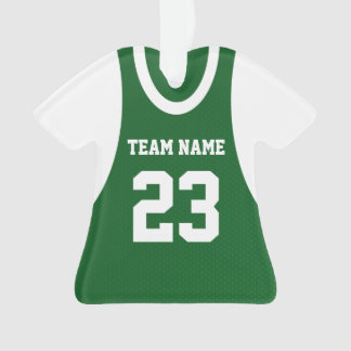 Basketball Sports Jersey Green Ornament