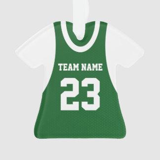Basketball Sports Jersey Green Ornament