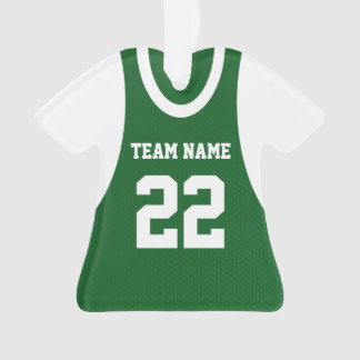 Basketball Sports Jersey Green with Photo Ornament
