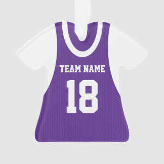 Basketball Sports Jersey Purple with Photo Ornament