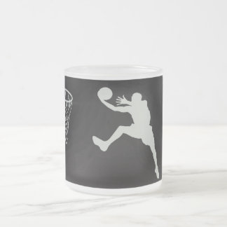 basketball sports jump team game net court frosted glass coffee mug