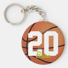 Basketball Sports Keychain at Zazzle