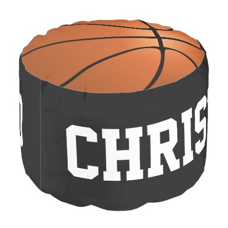 Basketball Sports Kids Personalized Ottoman Decor