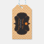 Basketball Sports Orange Gift Tag