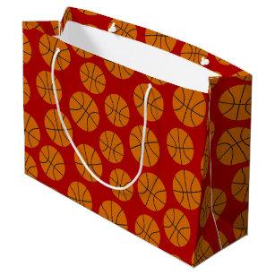 Basketball Sports Pattern Large Gift Bag