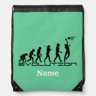 Basketball Sports Personalized Drawstring Backpack