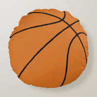 Basketball Sports Round Pillow