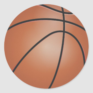Basketball Sports Classic Round Sticker
