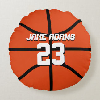Basketball Sports Team Personalized Round Pillow