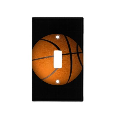 Basketball Sports Theme Light Switch Cover