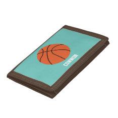 Basketball Sports-themed Kids Tri-fold Wallets at Zazzle