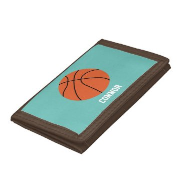 heartlocked Basketball Sports-Themed Kids Tri-fold Wallets