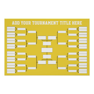 Basketball Sports Tournament Bracket Poster