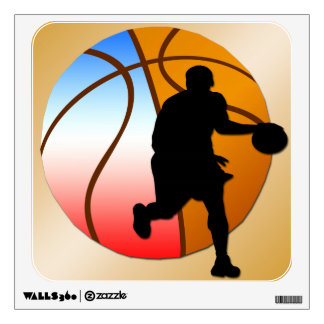 Basketball Square Wall Decal