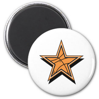 Basketball Star 2 Inch Round Magnet