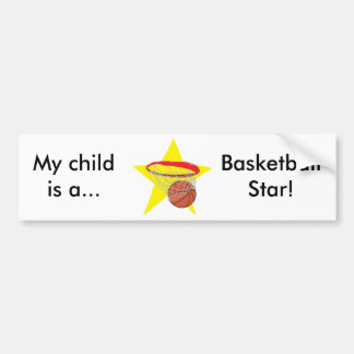Basketball star!  Customizable: Car Bumper Sticker