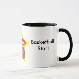 Basketball star!  Customizable: Mug