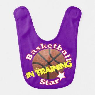 Basketball Star in Training Baby Bib