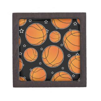 Basketball Star Pattern Jewelry Box