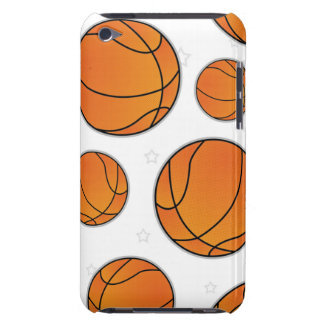 Basketball Star Pattern - White Barely There iPod Case