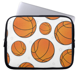 Basketball Star Pattern - White Computer Sleeve