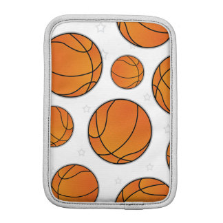 Basketball Star Pattern - White iPad Mini Sleeve