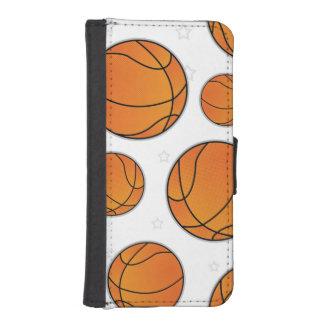 Basketball Star Pattern - White iPhone SE/5/5s Wallet