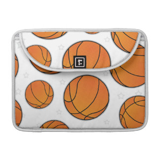 Basketball Star Pattern - White MacBook Pro Sleeves