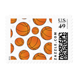 Basketball Star Pattern - White Stamps