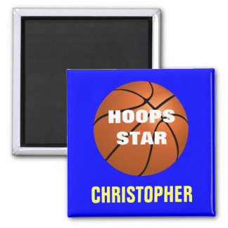 Basketball Star Personalized Magnet